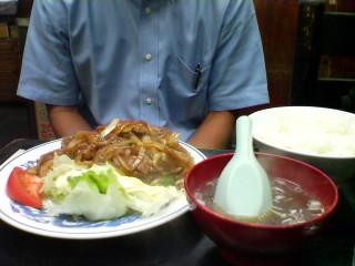 辛子レバ定食
