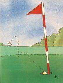 「ゴルフの絵本」大人向きの本
